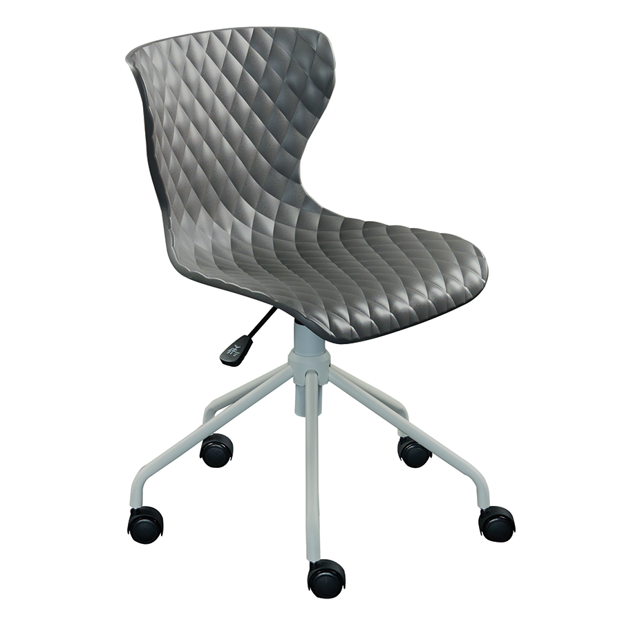 modern office chairs  daly gray task chair  eurway - daly gray modern task chair