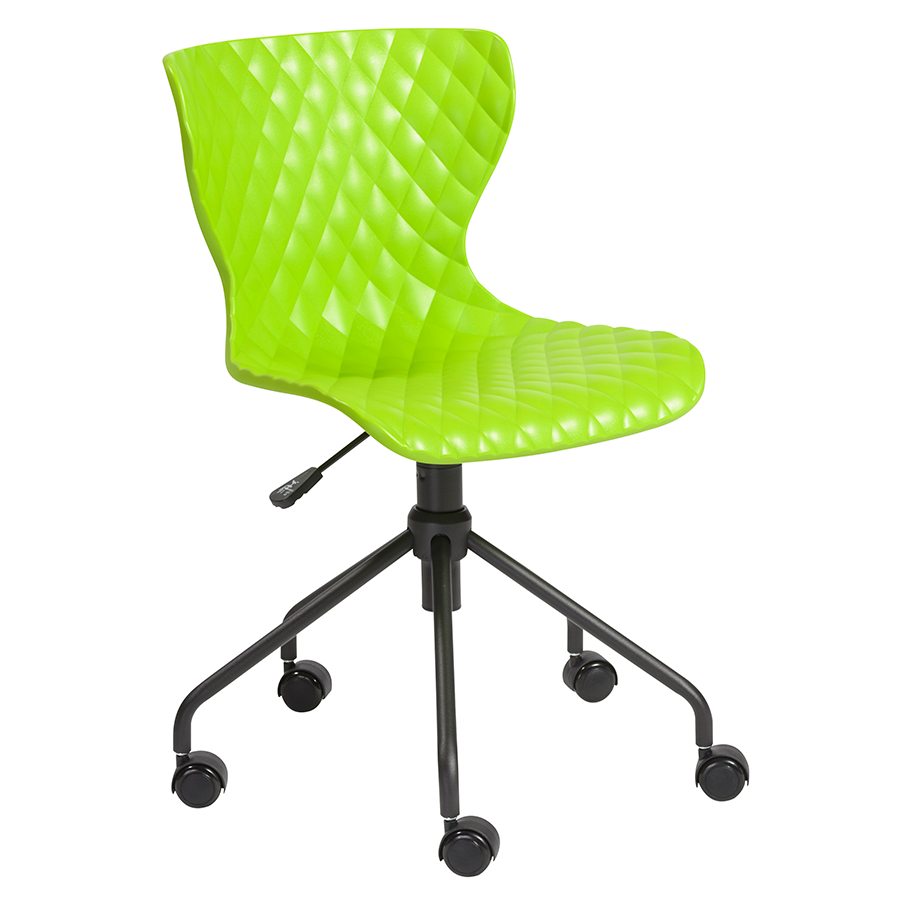modern office chairs  daly green task chair  eurway - daly green modern task chair