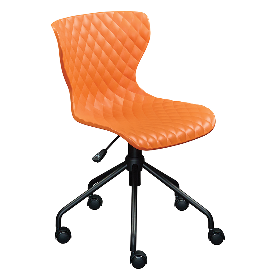 Modern task chairs - Modern Office Chairs Daly Orange Task Chair Eurway