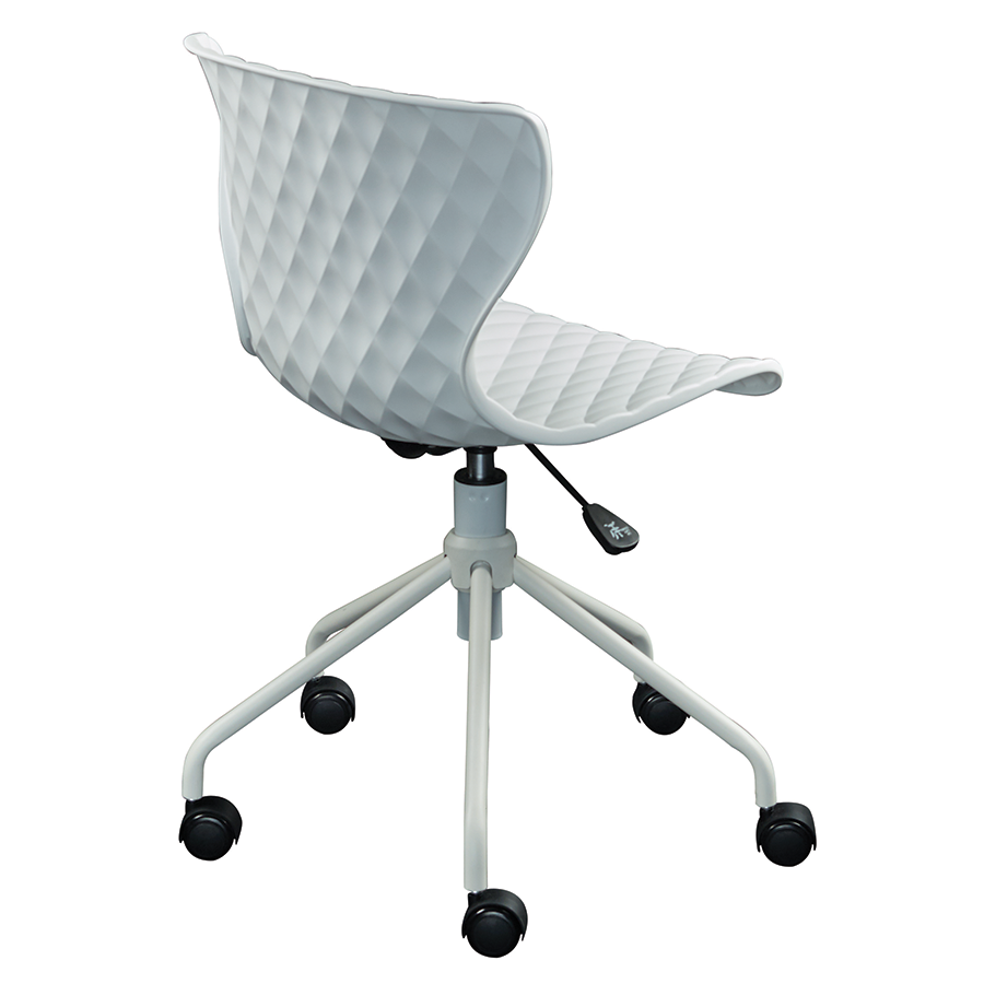 Daly White Polypropylene Contemporary Task Chair