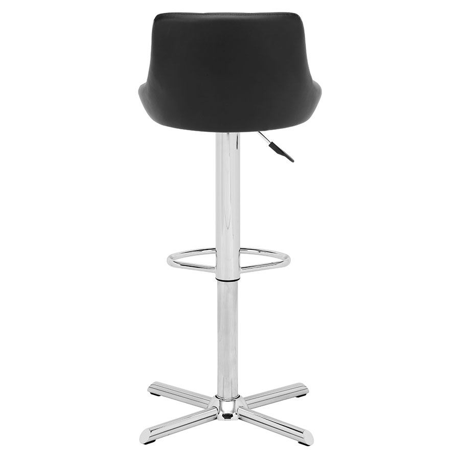 Damon Black Leatherette Contemporary Adjustable Stool