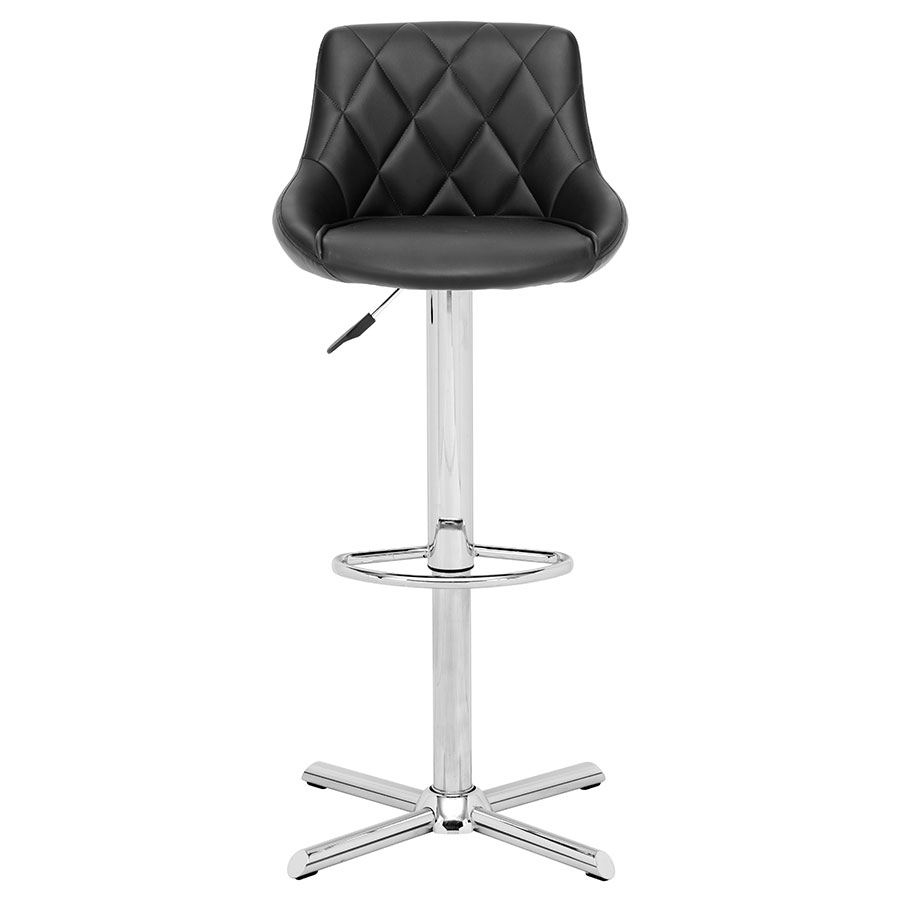 Damon Black Contemporary Adjustable Stool
