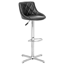 Damon Black Modern Adjustable Stool