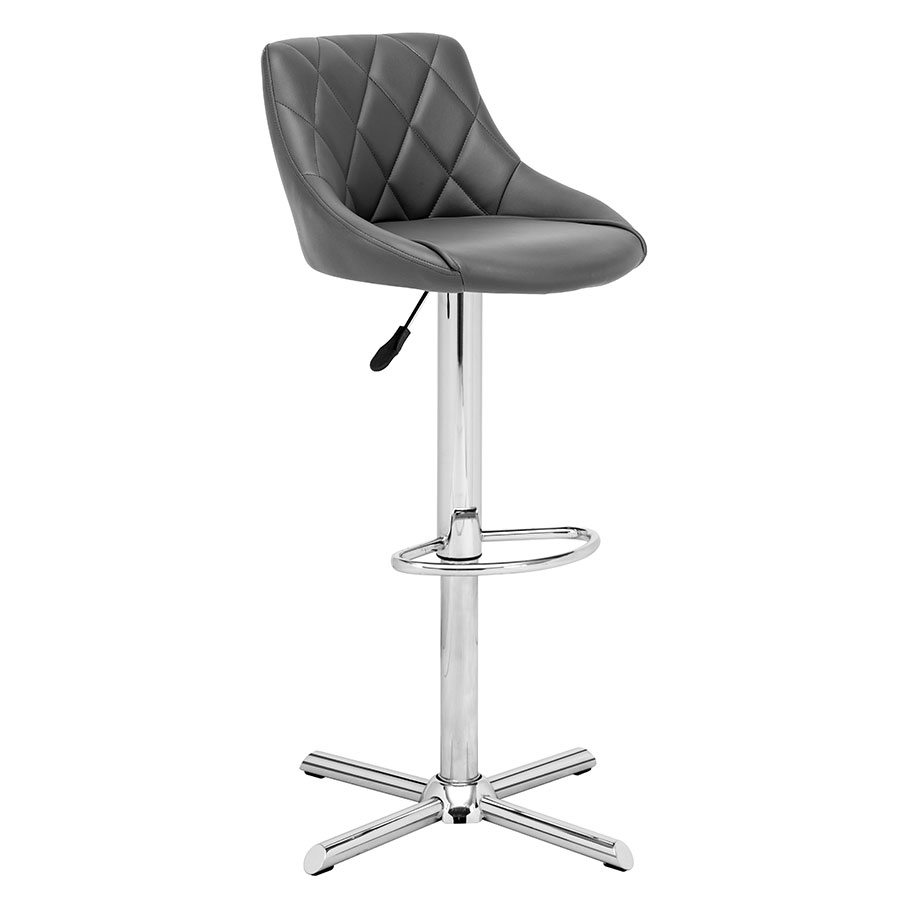 Damon Gray Modern Adjustable Stool
