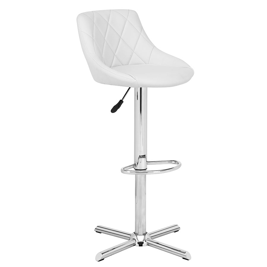 Damon White Modern Adjustable Stool