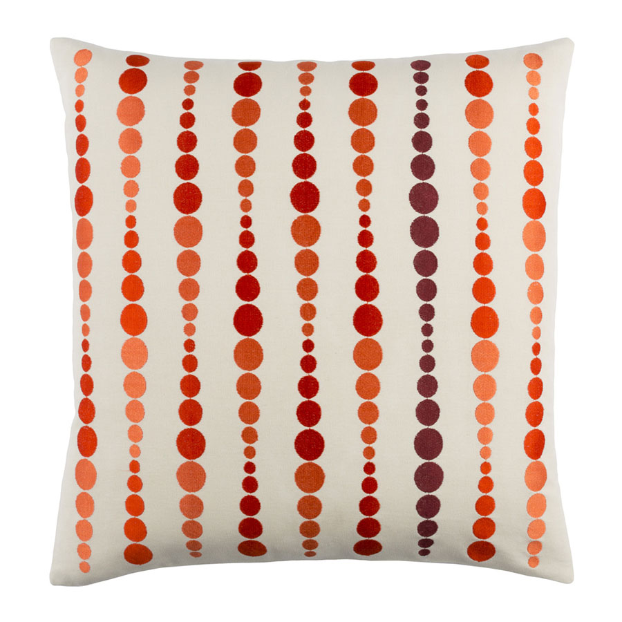 "Danette 18"" Orange Modern Pillow"