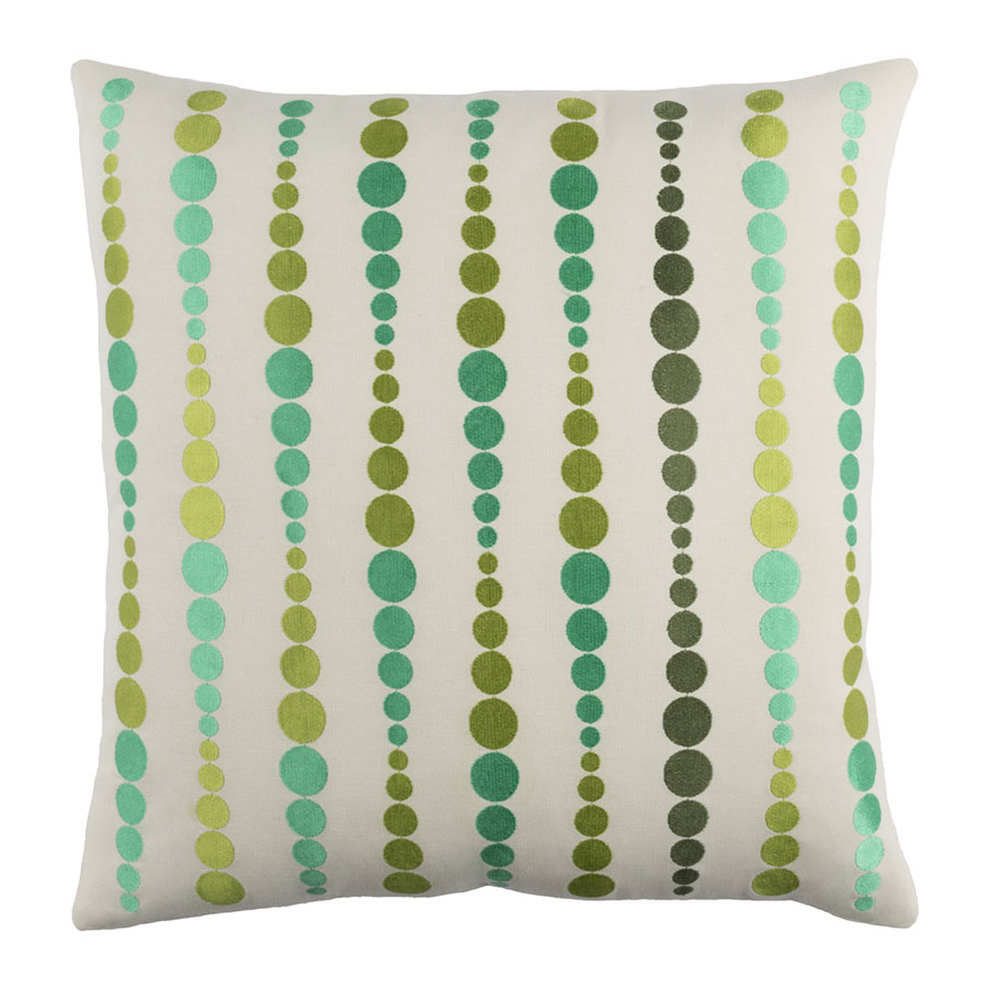 "Danette 22"" Green Modern Pillow"