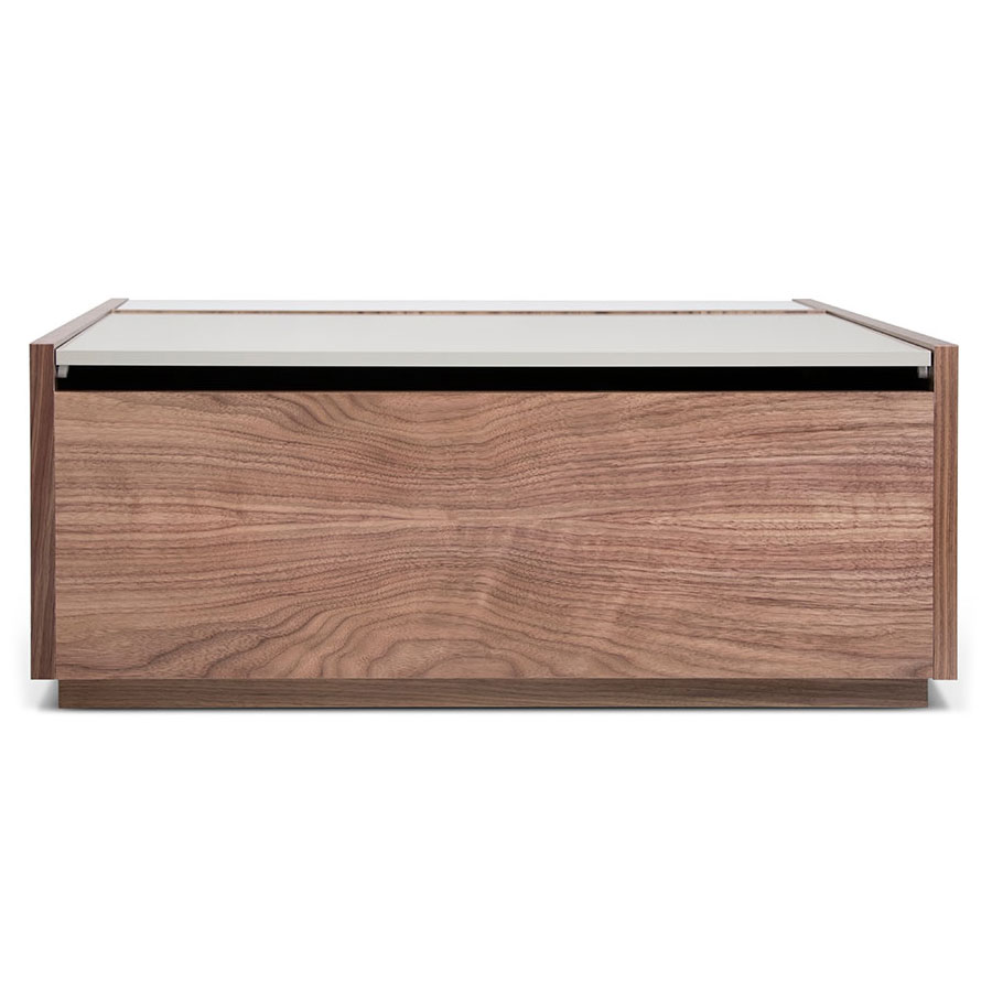 Dann Contemporary Coffee Table In Walnut Front