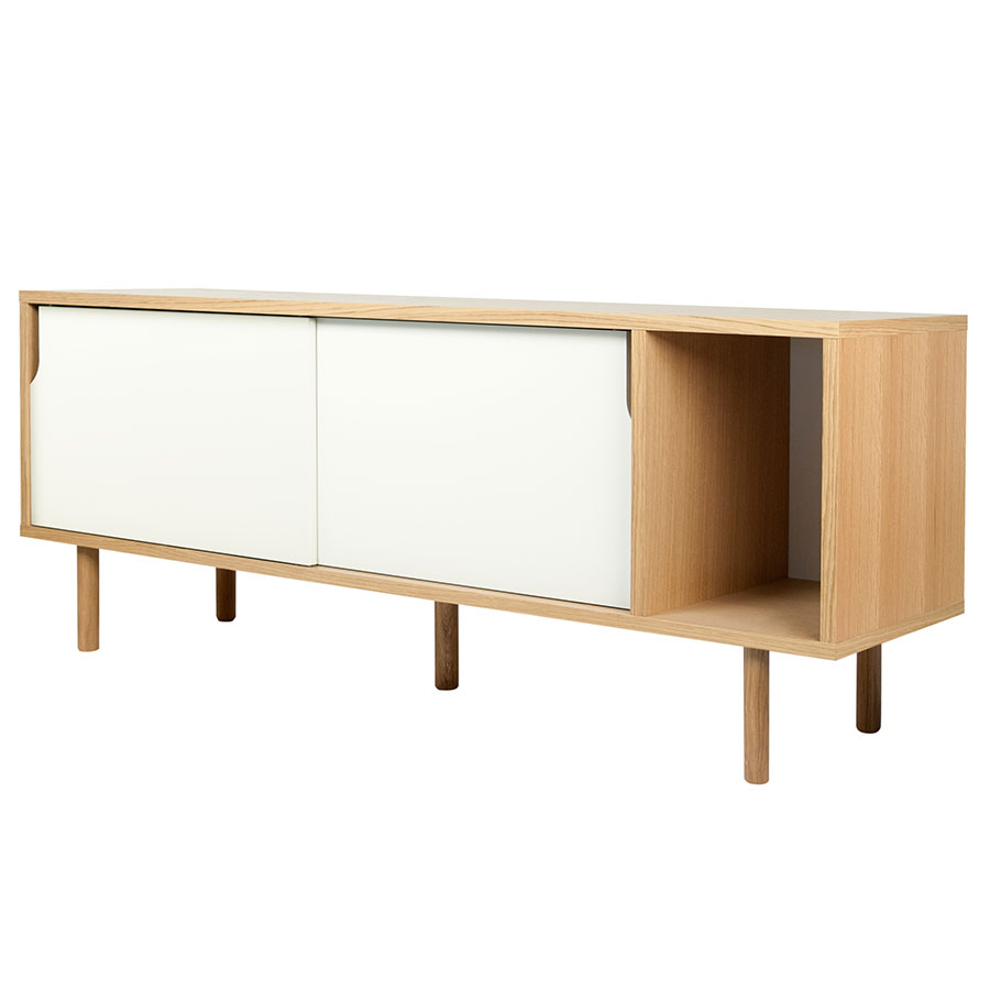 Dann Oak + White Contemporary Sideboard