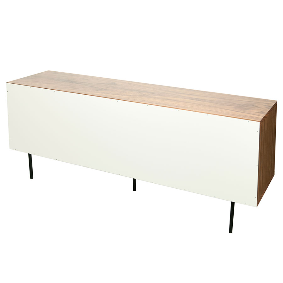 Dann Walnut + White + Gray + Black Contemporary Sideboard Back