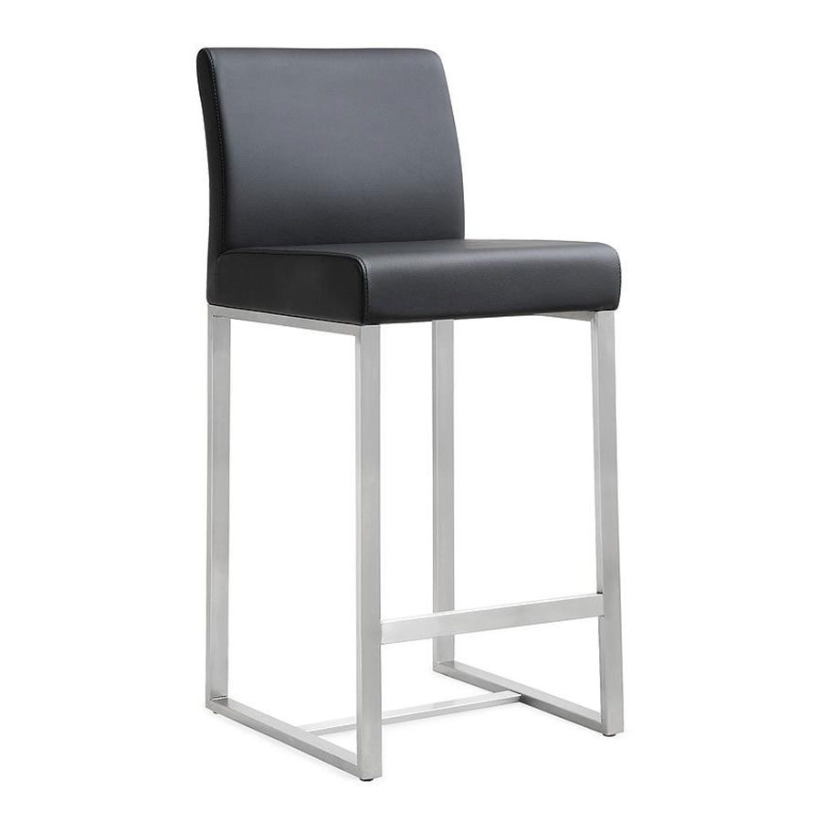 Danube Modern Black Bar Height Stool