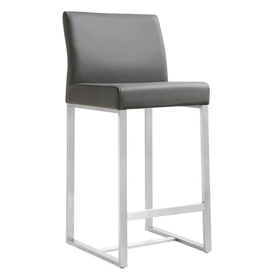 Danube Modern Gray Bar Height Stool