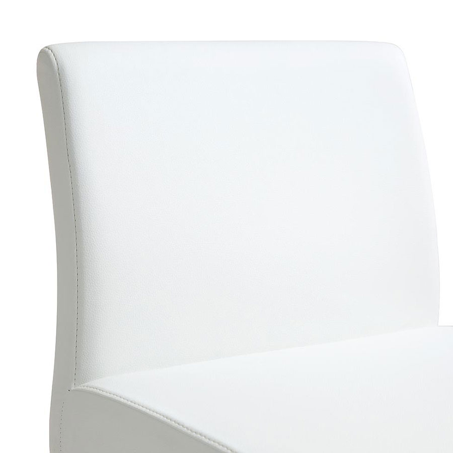 Danube Modern White Bar Stool - Back Detail