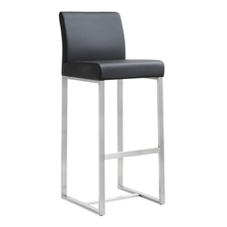 Danube Modern Black Counter Height Stool