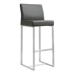 Danube Modern Gray Counter Height Stool