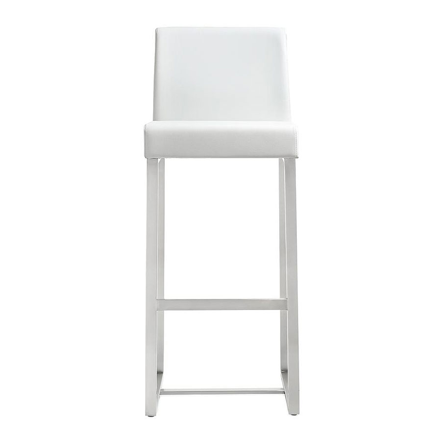 Danube Modern White Counter Stool