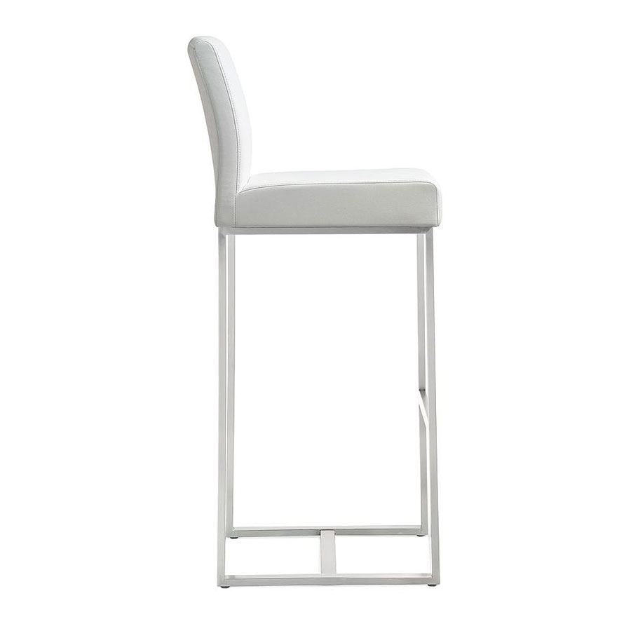 Danube Modern White Counter Stool - Side View