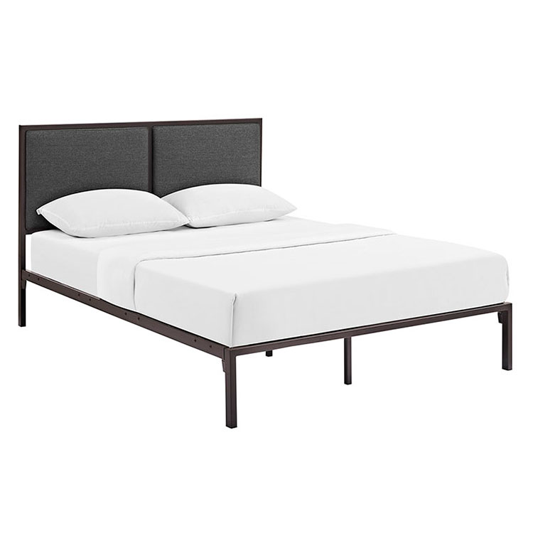 Darla Modern Brown + Gray Platform Bed