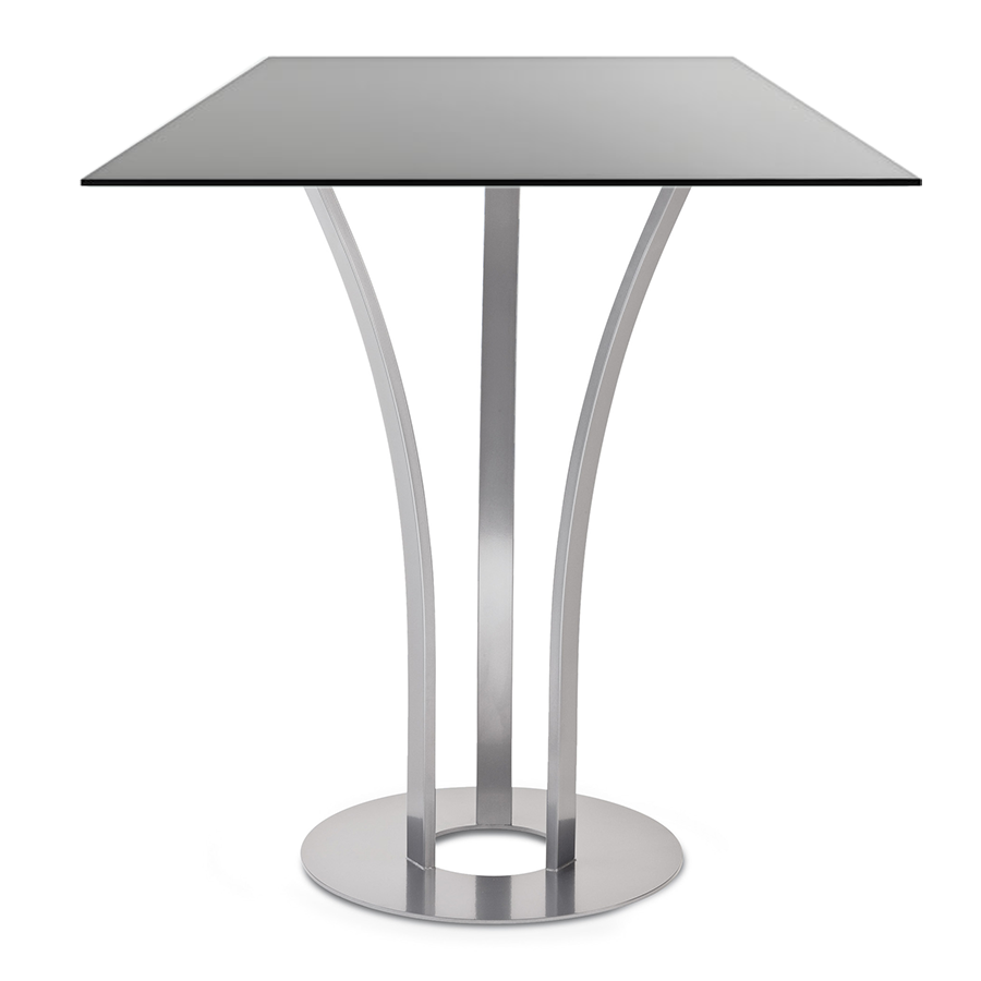 Davai Black Glass + Metal Modern Bar Height Table
