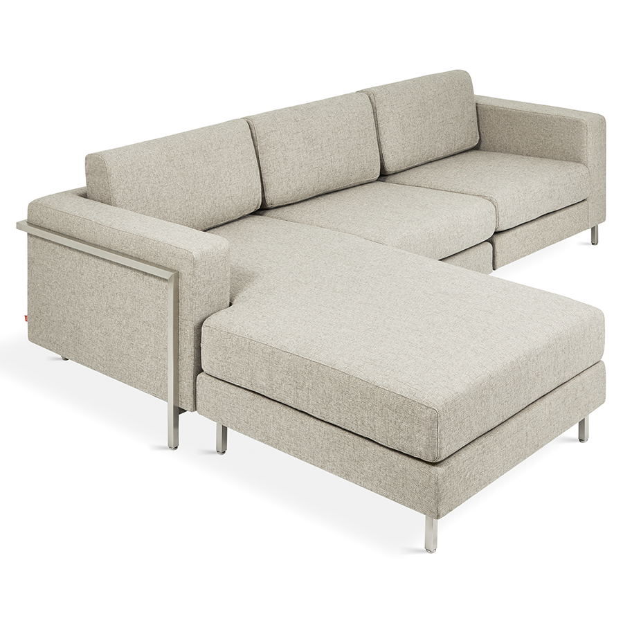 Gus* Modern Davenport Bi-Sectional in Leaside Driftwood