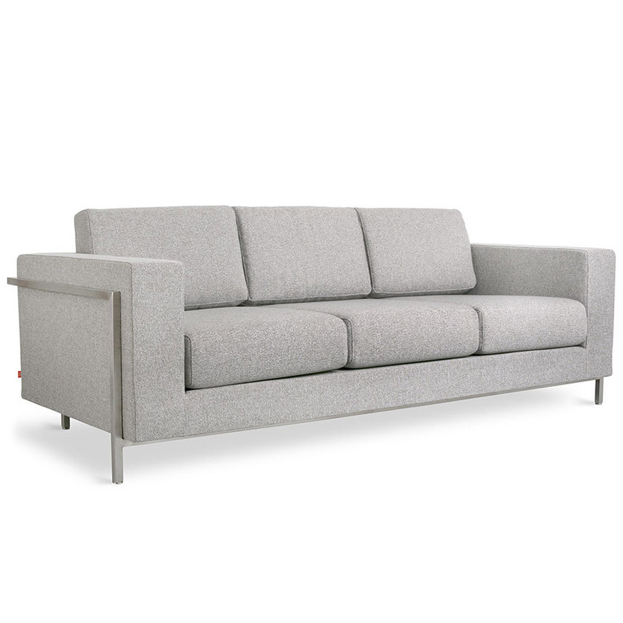 Call To Order Davenport Contemporary Sofa In Totem Pebble
