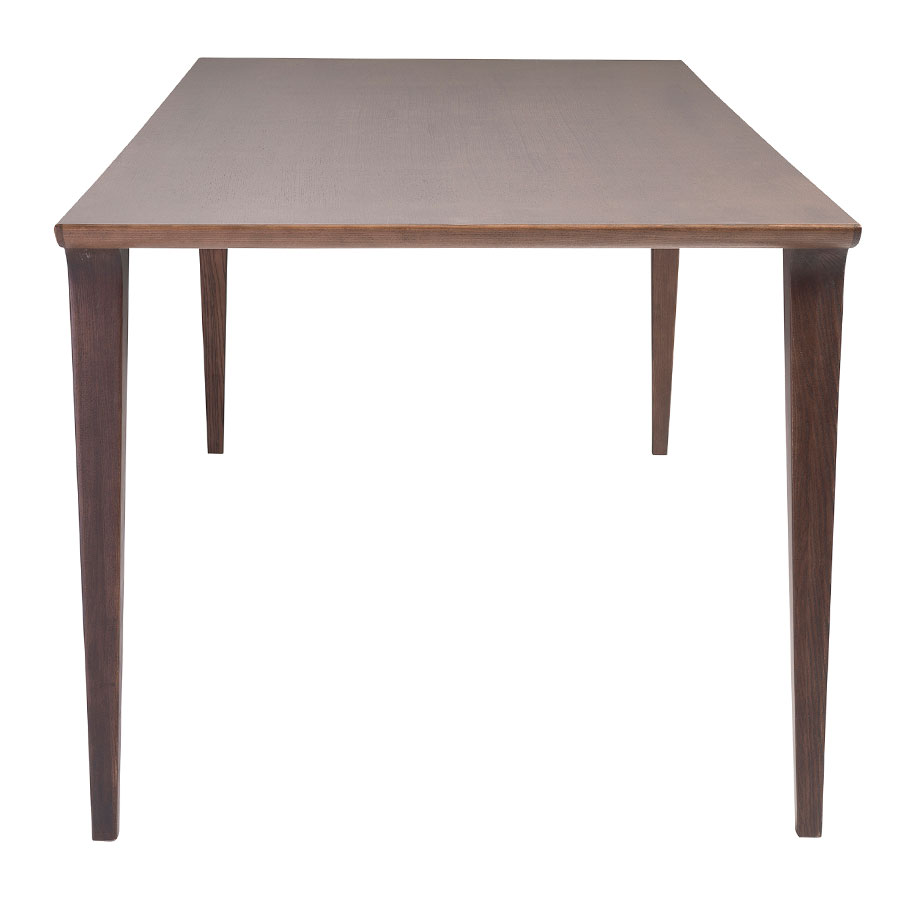 Davis Modern Walnut Dining Table - Side View