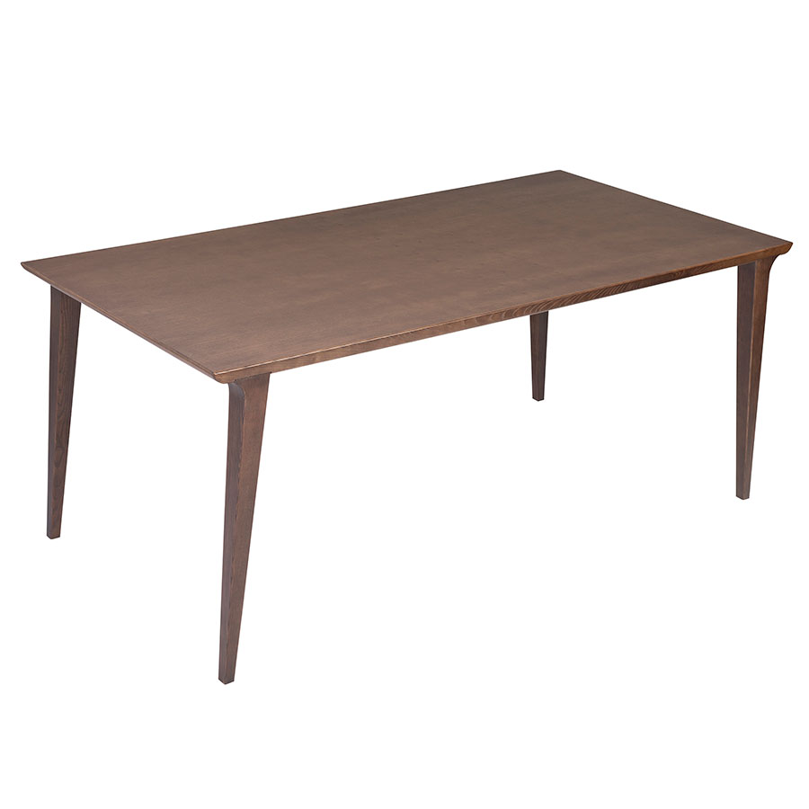 Davis Modern Walnut Dining Table - Top View
