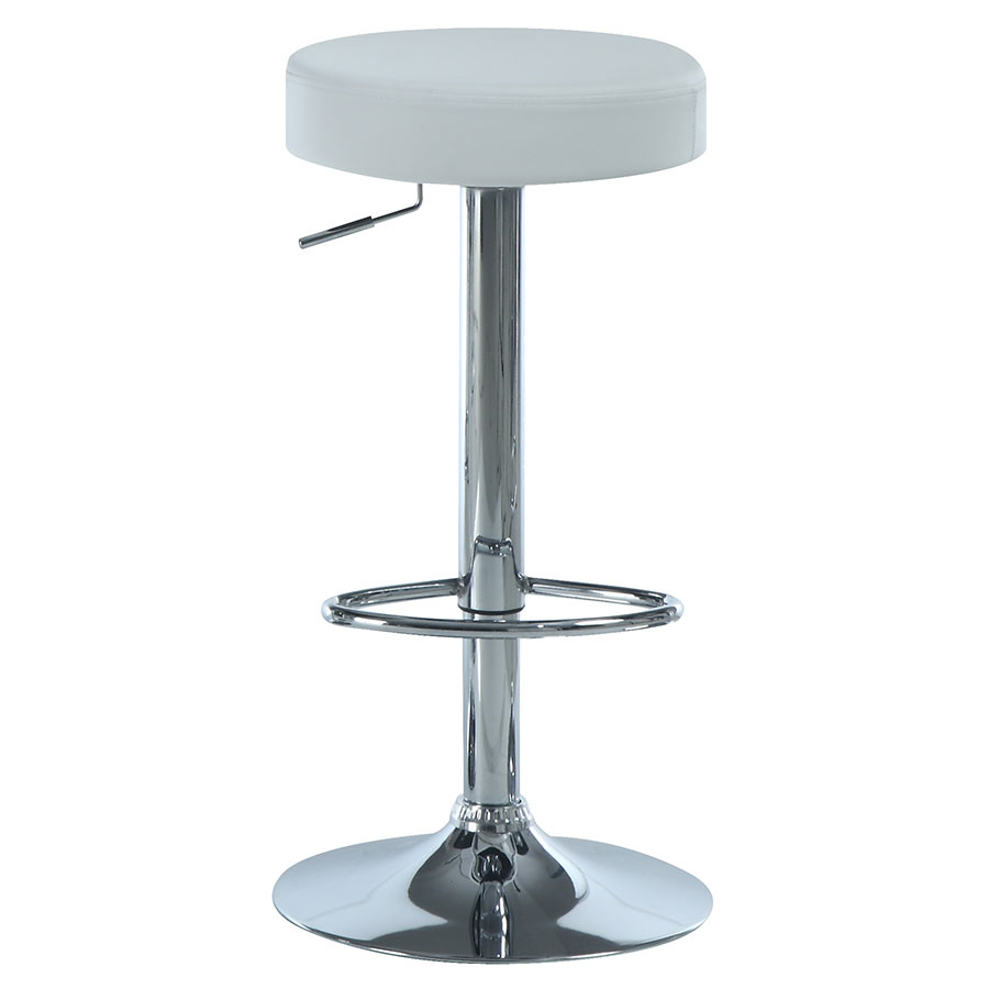 Decklyn Modern White Adjustable Stool