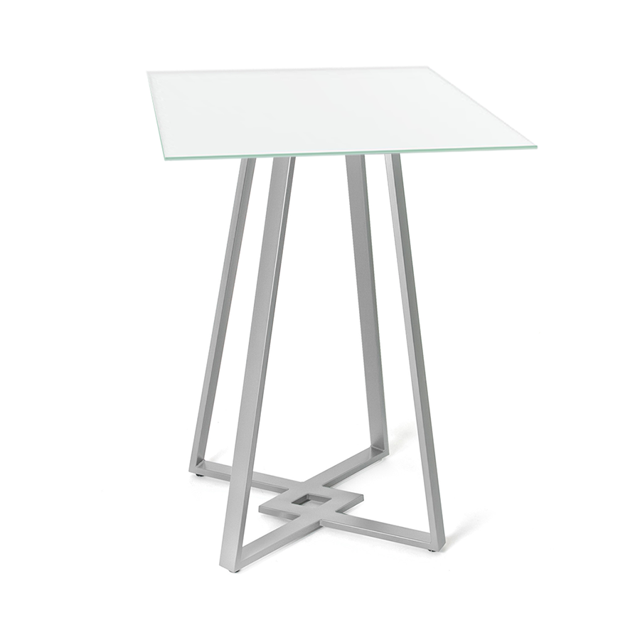 DeeDee White Glass + Metal Modern Counter Height Table