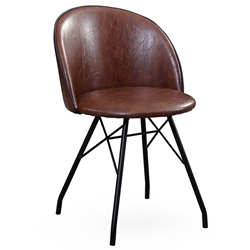 Delaney Vintage Modern Swivel Chair