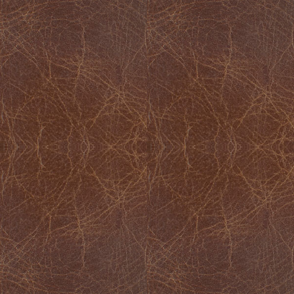 Gus* Modern Chestnut Brown Leather Sample