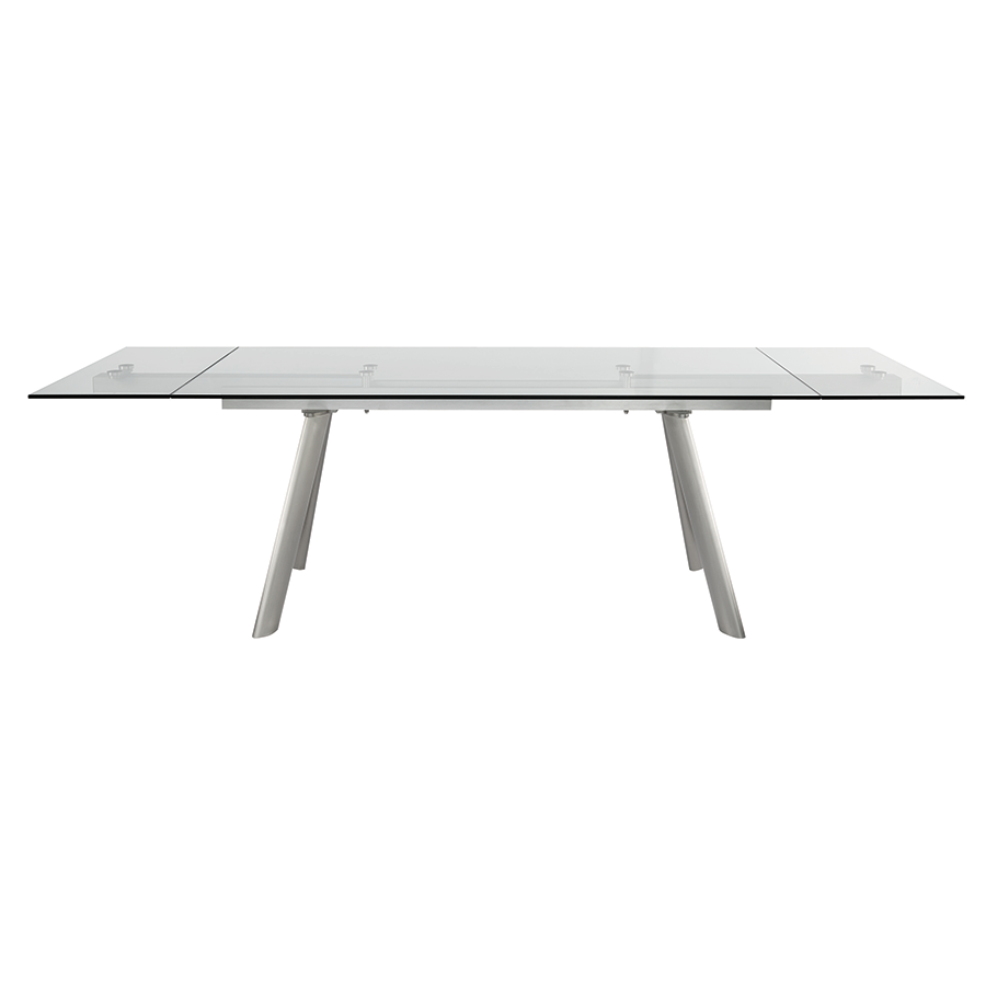 Delano Steel + Glass Modern Extension Table