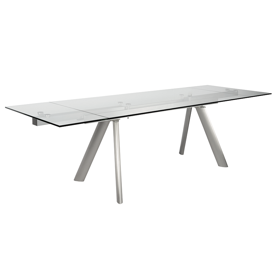 modern dining tables  delano extension table  eurway - delano modern extension table