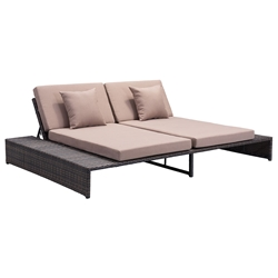 Delmar Modern Outdoor Double Chaise