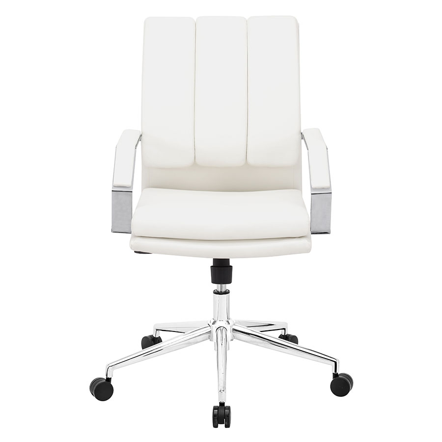 Delta White Pro Contemporary Office Chair