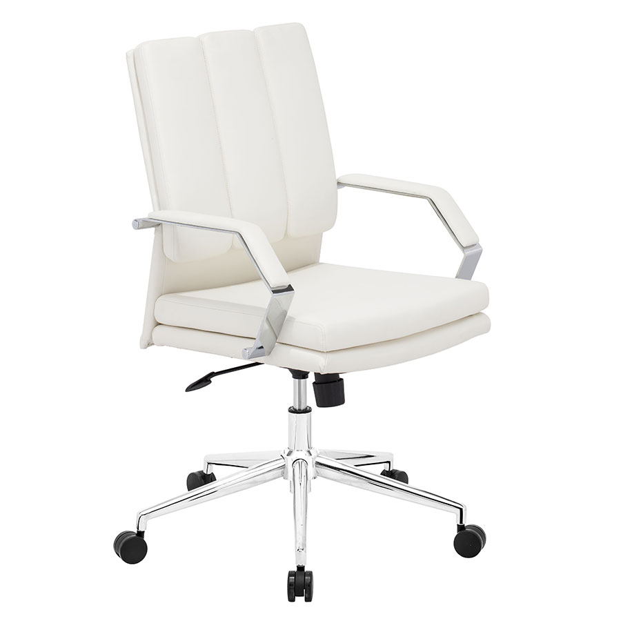 Delta White Pro Modern Office Chair