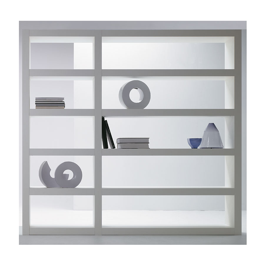 Denso White Triple Contemporary Shelves Lifestyle