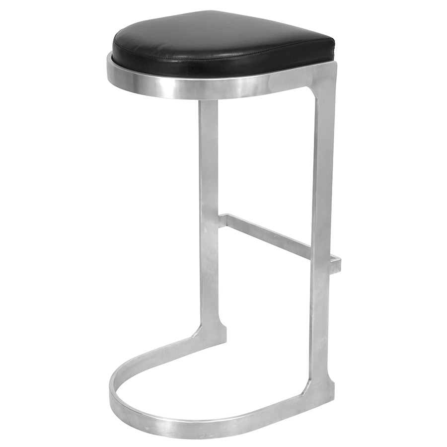 Derrick Modern Black Bar Stool - Back View
