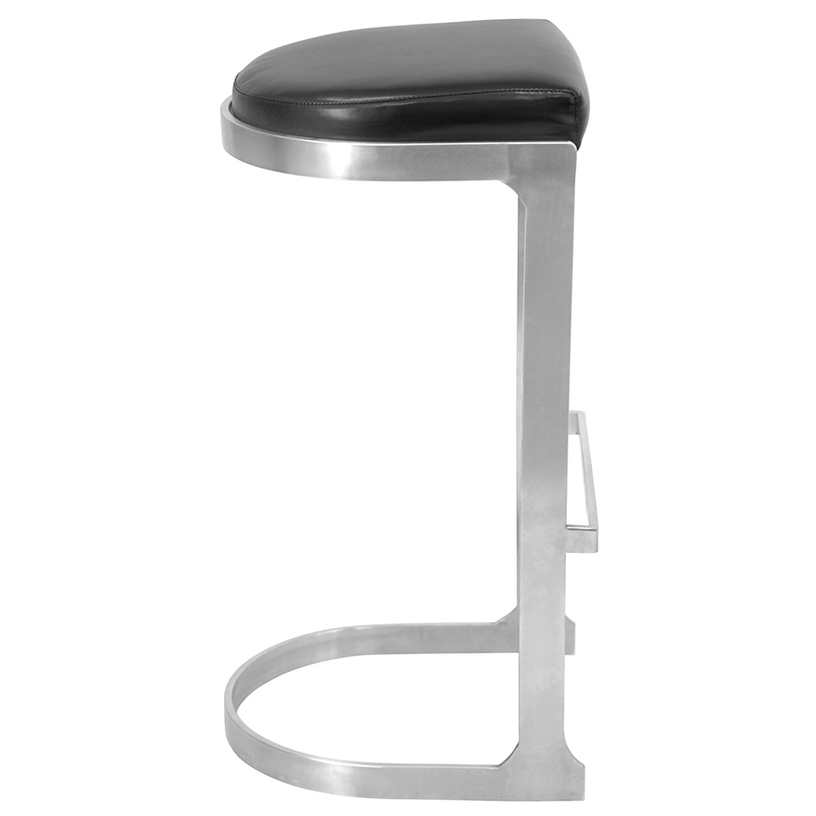 Derrick Modern Black Bar Stool - Side View
