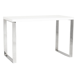 Diesel Modern White and Stainless Steel Desk