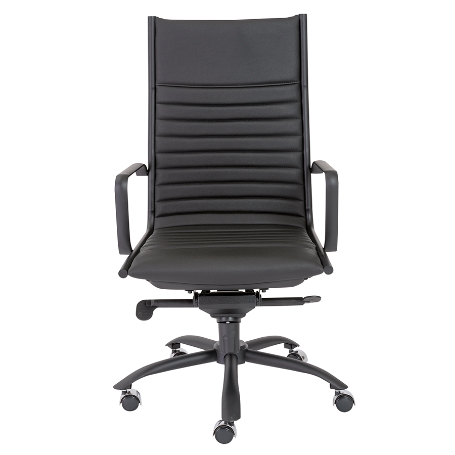 Dirk Black Leatherette Modern Executive Office Chair
