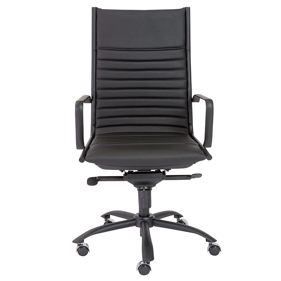 Dirk Black Contemporary Executive Office Chair