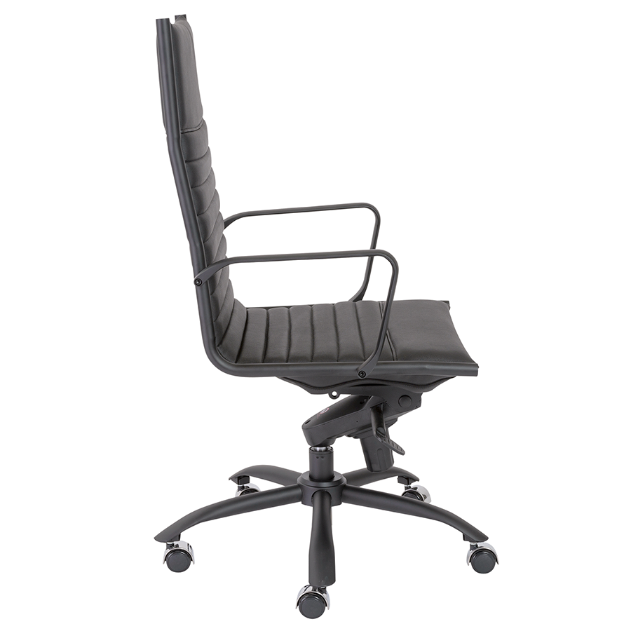 Dirk Black Leatherette Contemporary Executive Office Chair