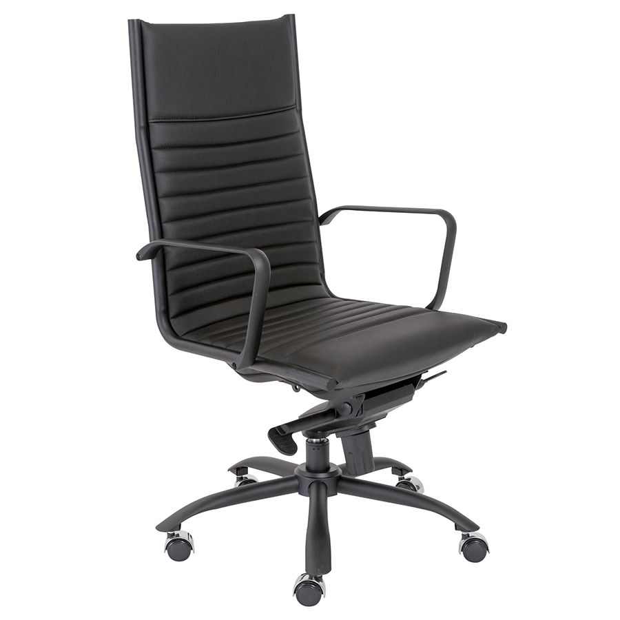 Dirk Black Modern Executive Office Chair