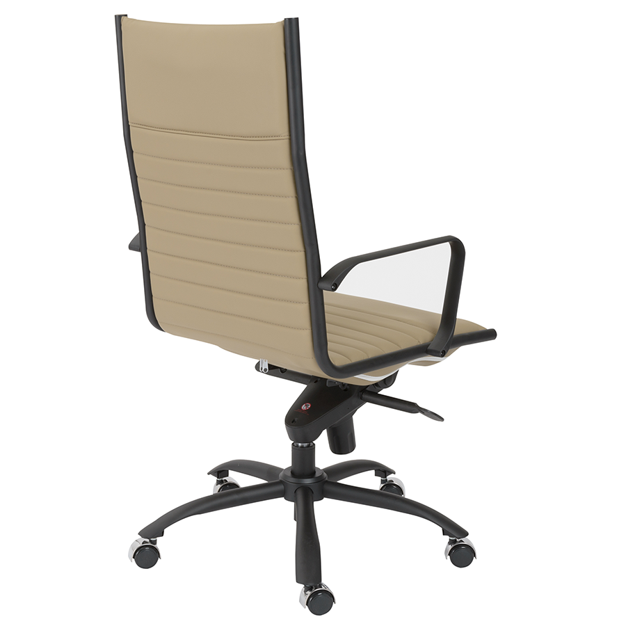 Dirk Taupe + Black Contemporary Executive Office Chair
