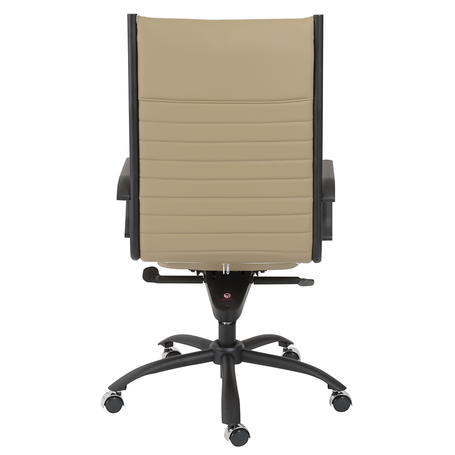 Dirk Taupe Leatherette Modern Executive Office Chair