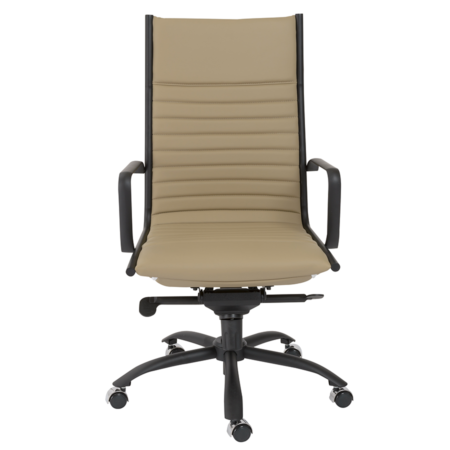 Dirk Taupe + Black Modern Executive Office Chair