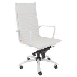 Dirk White Modern Executive Office Chair