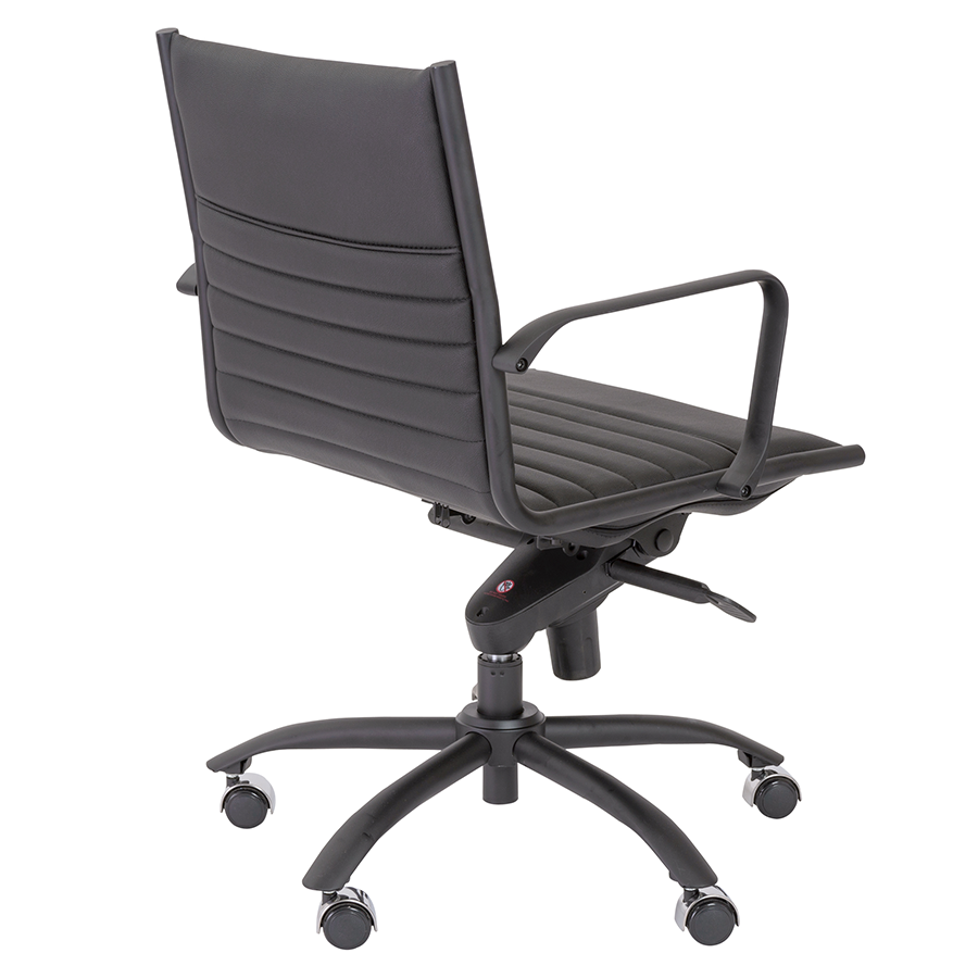Dirk Black Leatherette Contemporary Office Chair