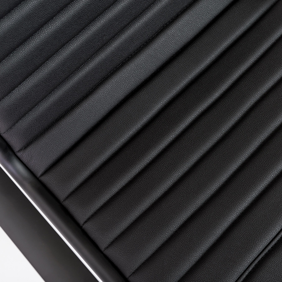 Dirk Black Leatherette Modern Office Chair Detail